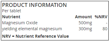 Product Information Magnesium